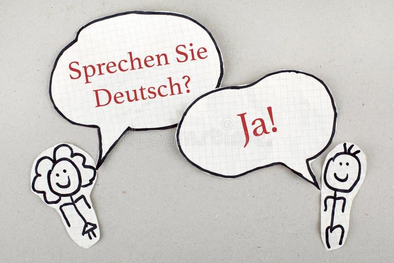 Speaking German Language royalty free illustration