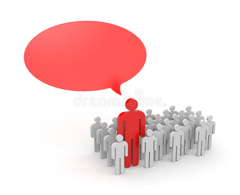 Download Speaking Out From The Crowd Stock Illustration - Illustration: 33438968