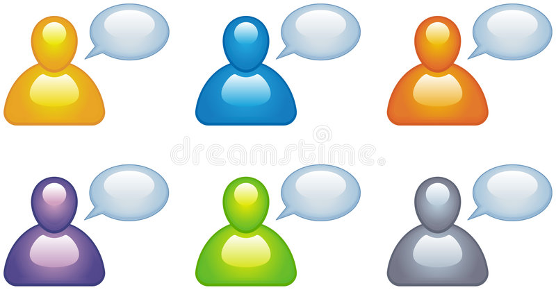 Speaking people vector icons vector illustration