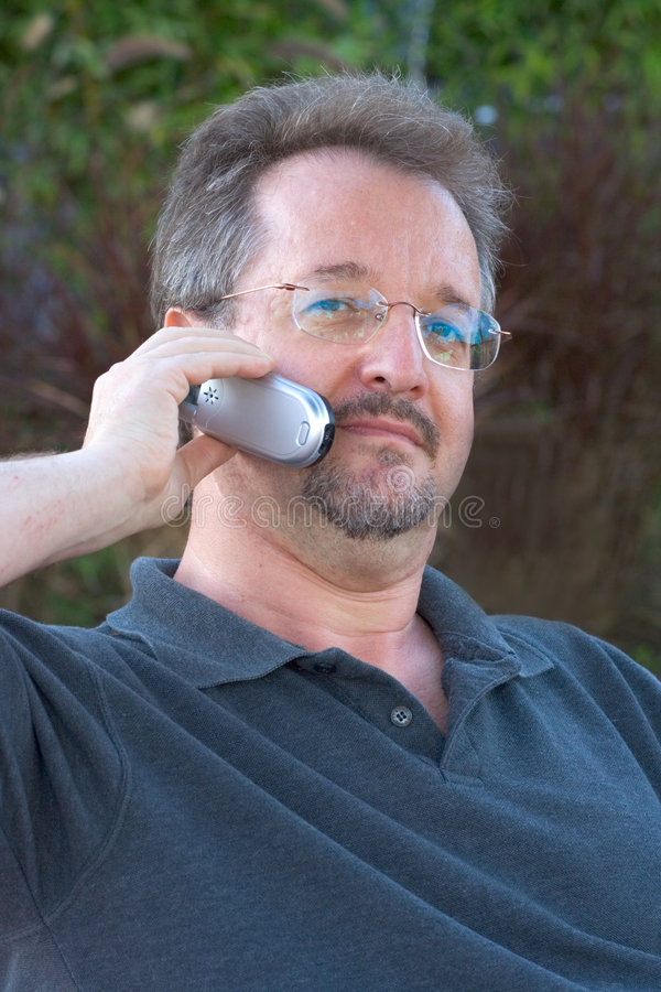 Speaking on phone royalty free stock images