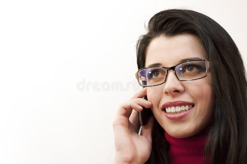 Speaking on the phone stock photos