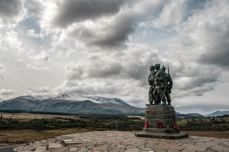 Commando Memorial at Spean Bridge in Scotland stock image
