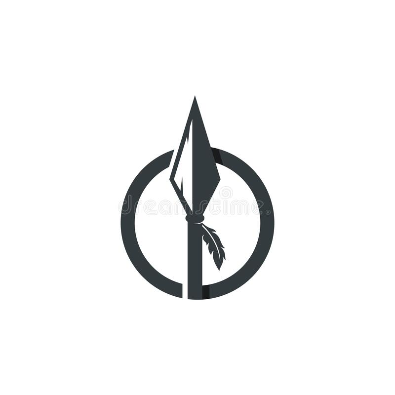 Free Spear Logo Vector Icon Illustration Template Royalty Free Stock Photo - 180759125