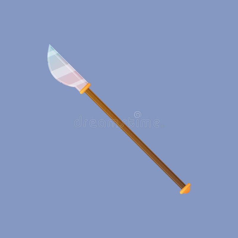 Spear van de spelslag royalty-vrije illustratie