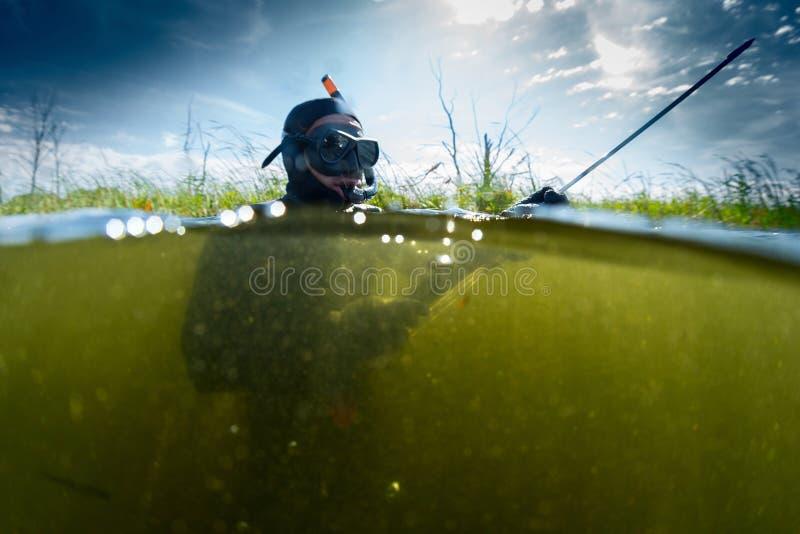 spearfishing zdjęcia stock