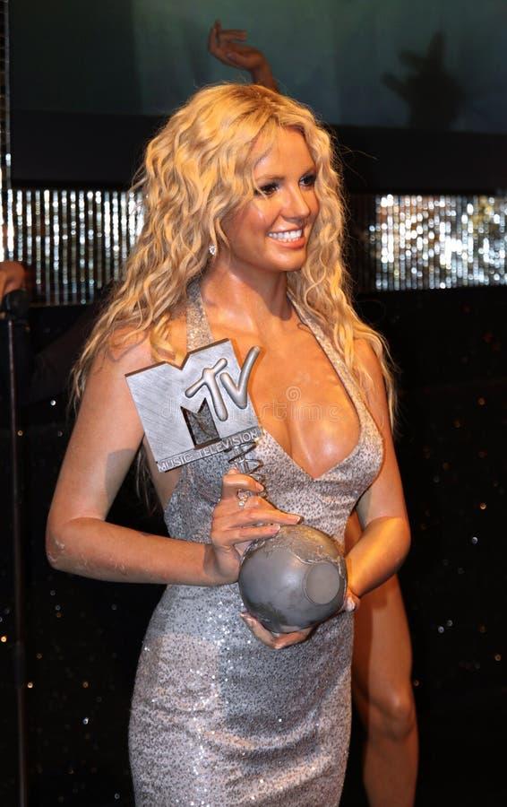 Spears van Britney bij Mevrouw Tussaud's royalty-vrije stock foto