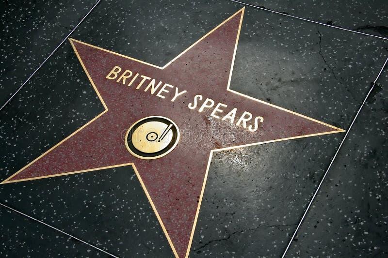 Spears van Britney Ster royalty-vrije stock afbeelding