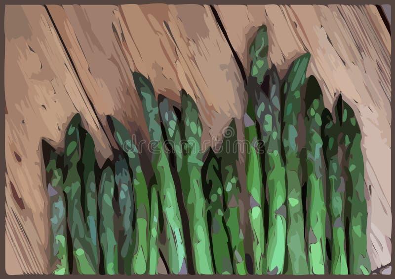 Spears van de asperge vector illustratie