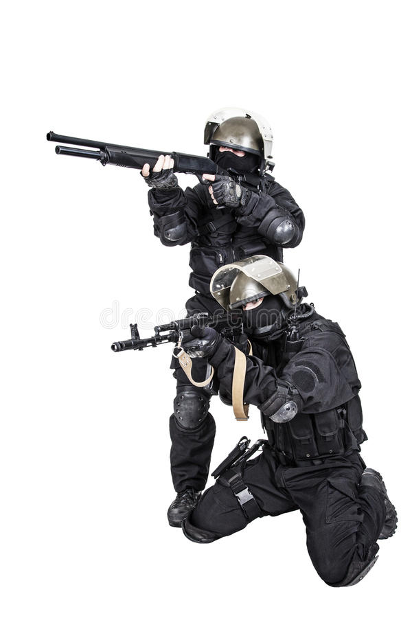 Spec ops in action stock image