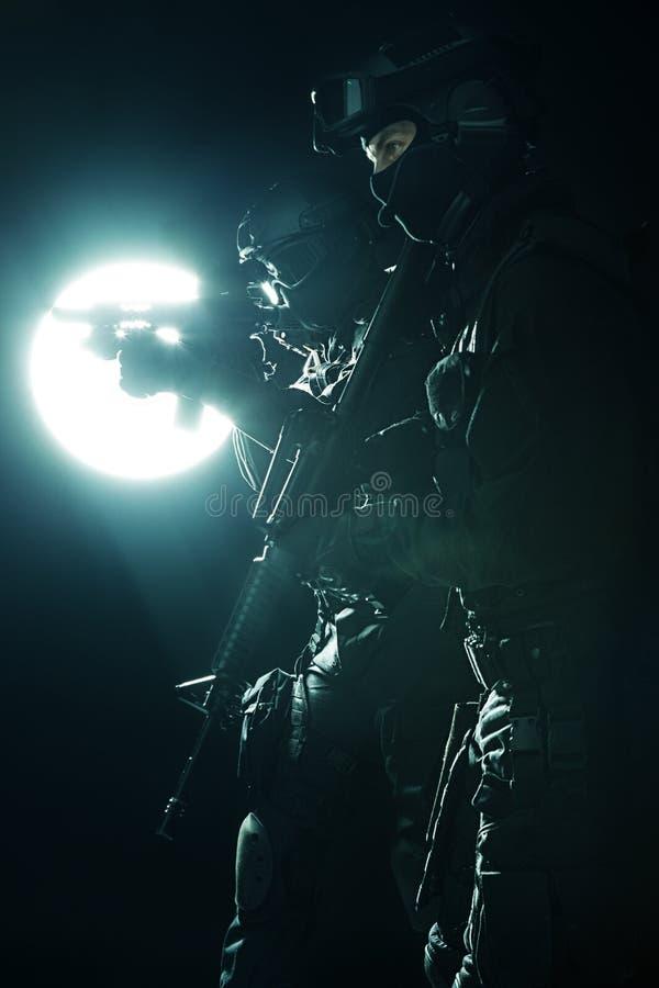 Spec ops milicyjny officersSWAT obraz stock