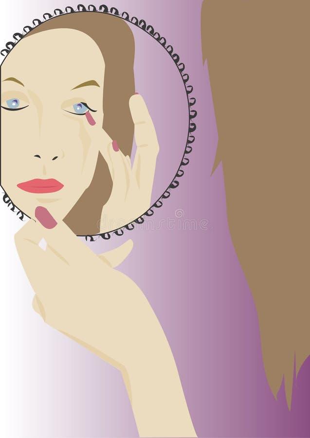 Download Specchio illustrazione di stock. Illustrazione di donna - 211511