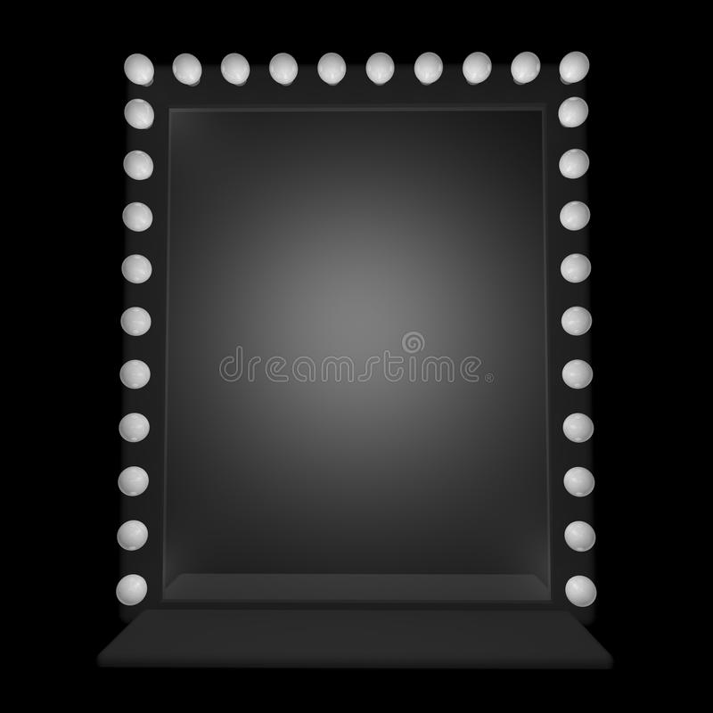 Specchio illustrazione di stock illustrazione di - Specchio con lampadine ...