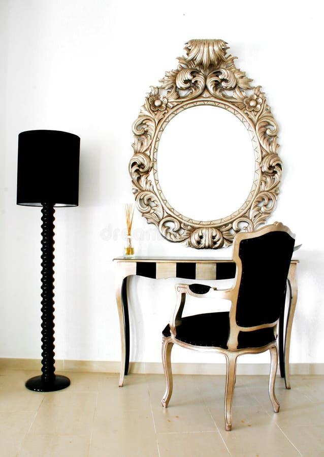 Specchio barrocco retro bello immagini stock libere da diritti