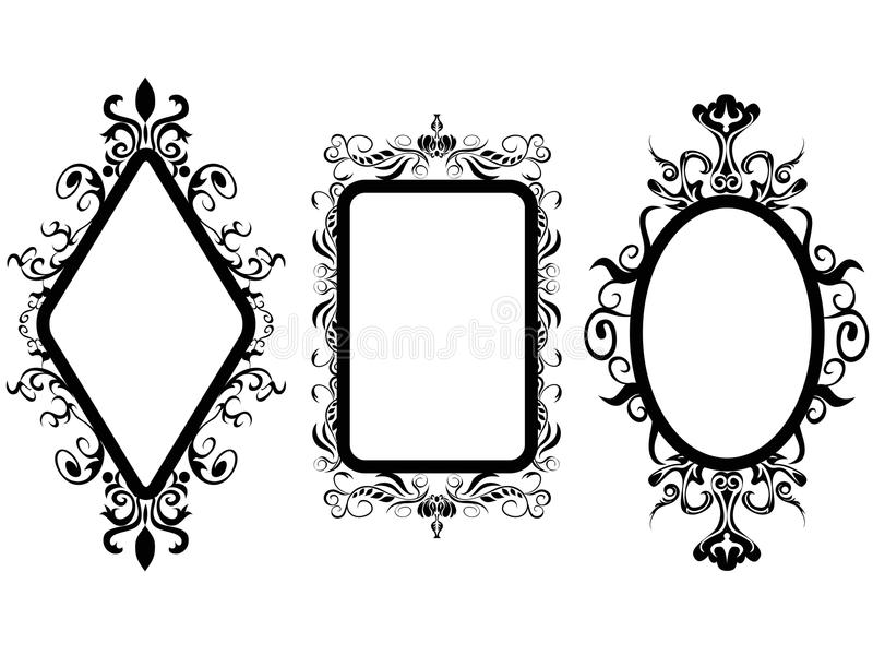 Specchio d'annata della struttura illustrazione di stock