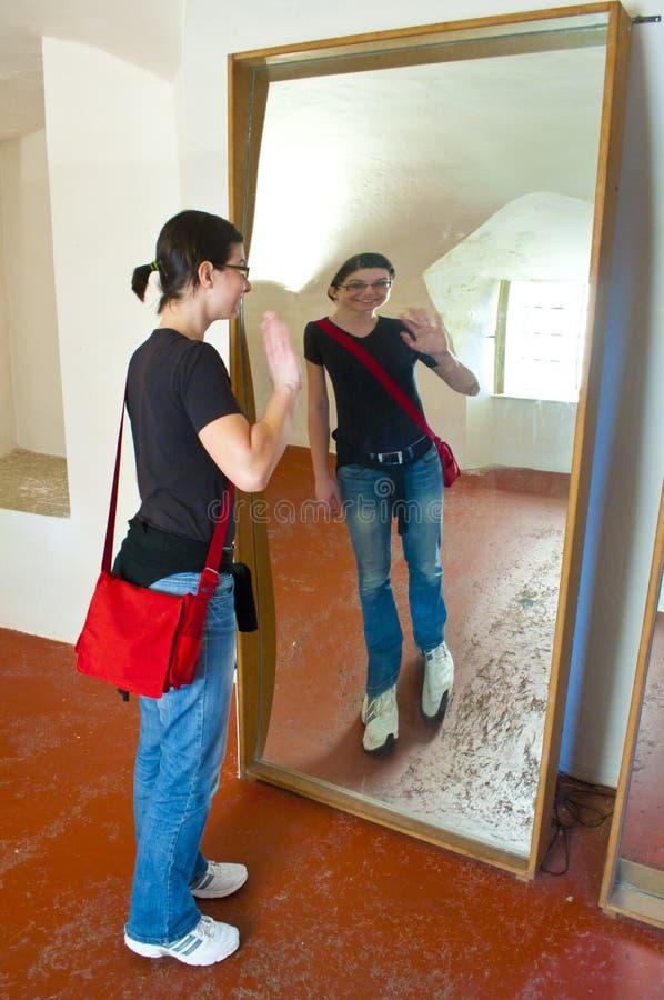 Specchio di deformazione fotografia stock libera da diritti
