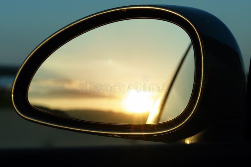 Specchio di tramonto fotografia stock