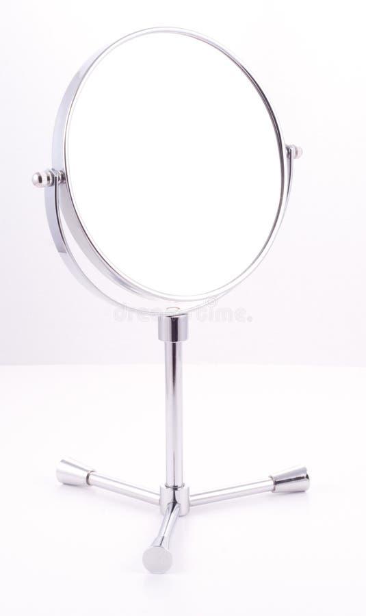 Specchio rotondo del bicromato di potassio con il basamento immagine stock
