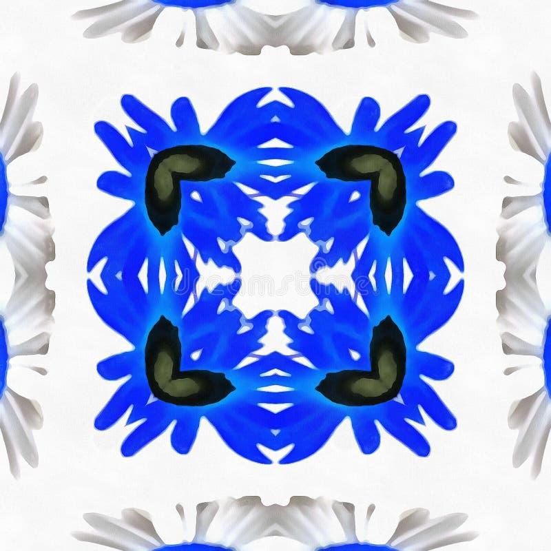 Specchio tribale del caleidoscopio del batik fotografia stock libera da diritti