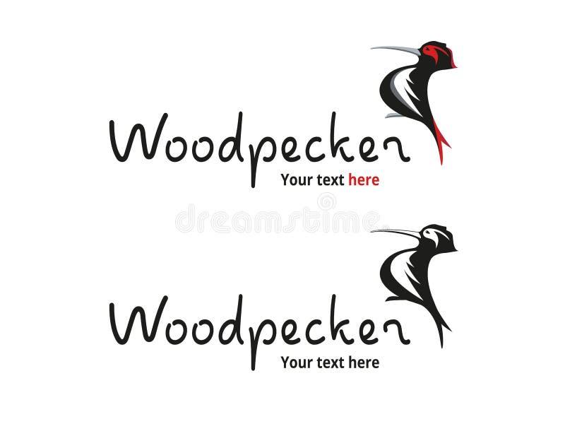 Specht-Vogel-Logo - Natur und Tiere vektor abbildung