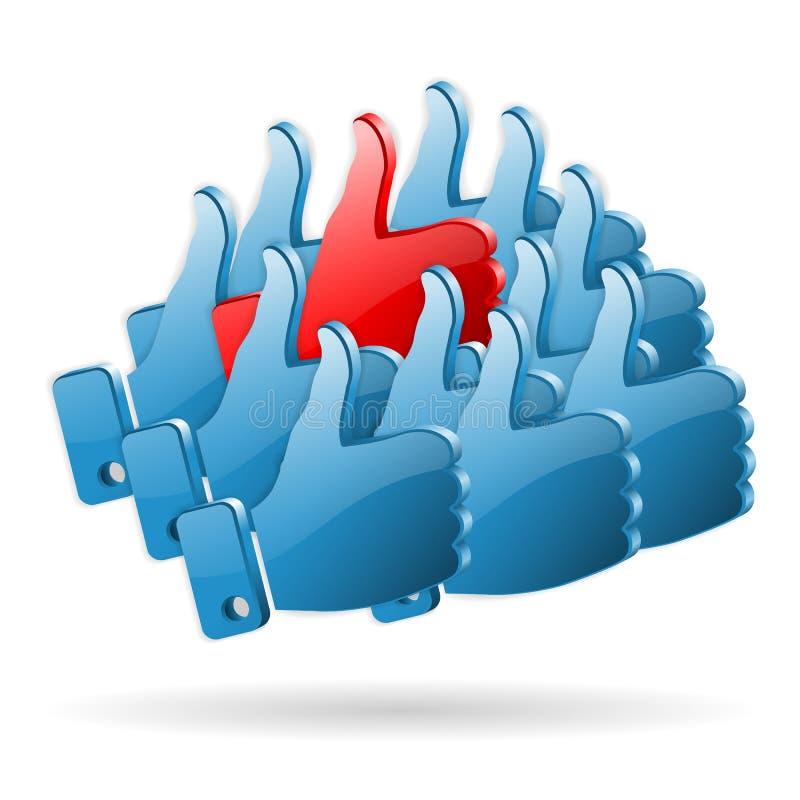 Speciaal Advies - het Sociale Concept van Media stock illustratie