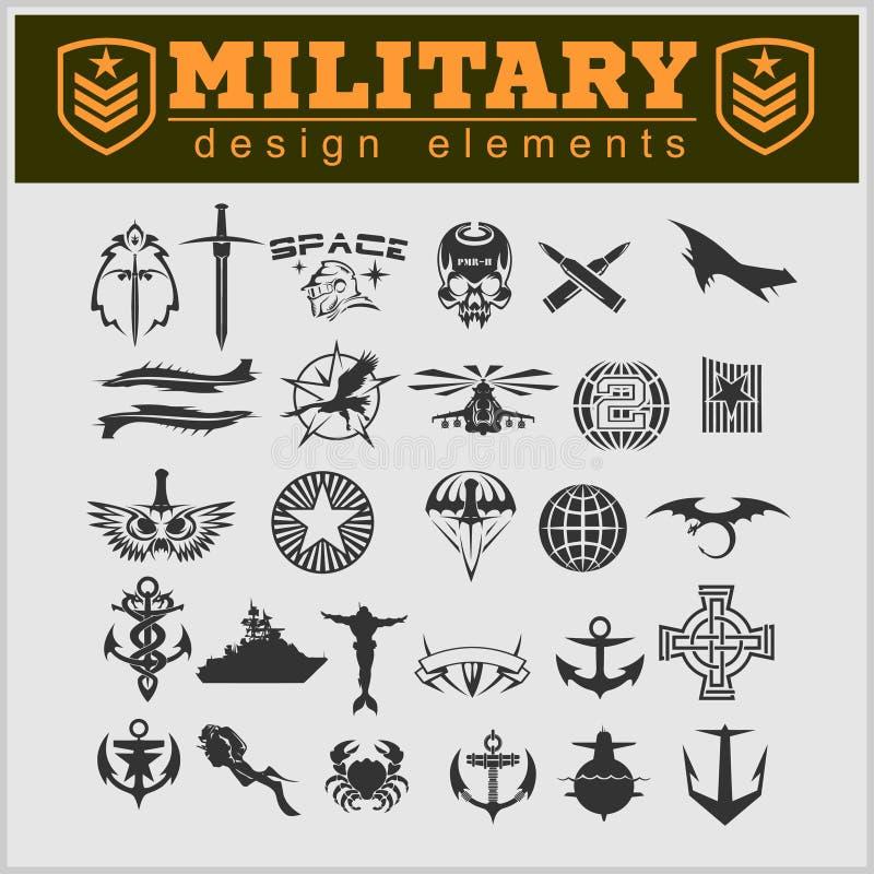 Speciaal eenheids militair flard vector illustratie