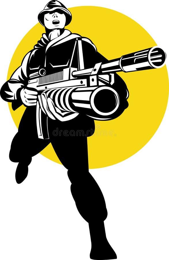 Speciaal krachtencommando stock illustratie