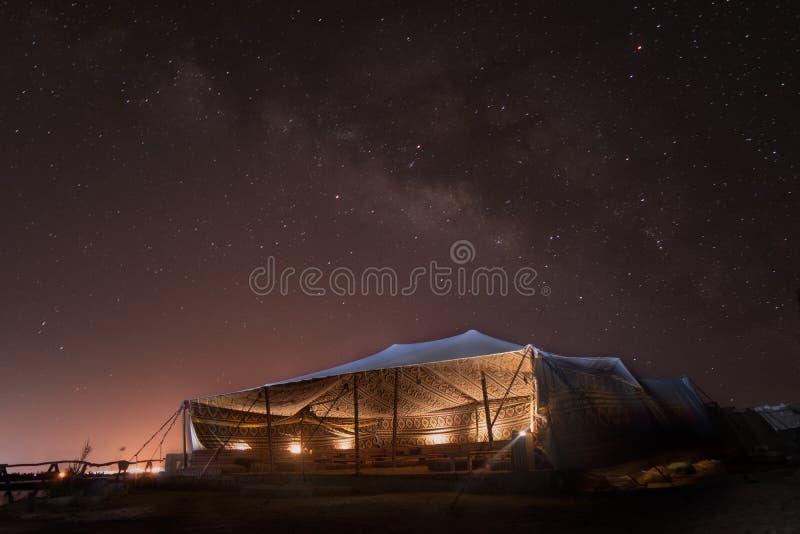 Speciaal schot voor Milkyway over Siwa-gebied in West-Egypte royalty-vrije stock fotografie