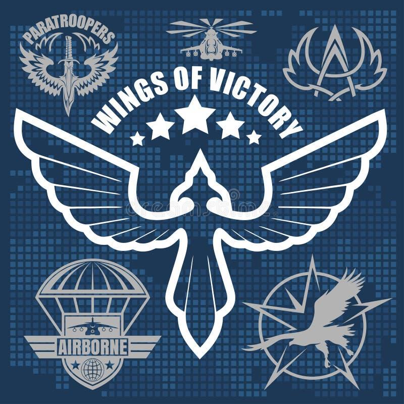 Speciaal vastgesteld vector het ontwerpmalplaatje van het eenheids militair embleem royalty-vrije illustratie