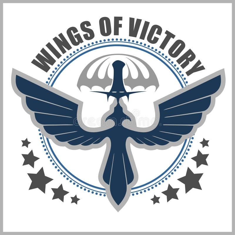 Speciaal vector het ontwerpmalplaatje van het eenheids militair embleem vector illustratie