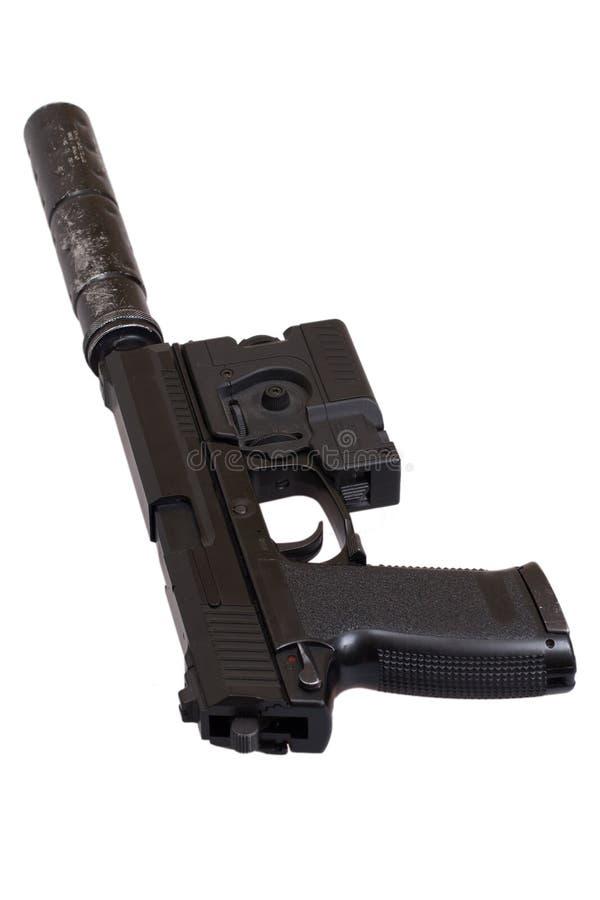 Speciaal verrichtingspistool met knalpot stock fotografie