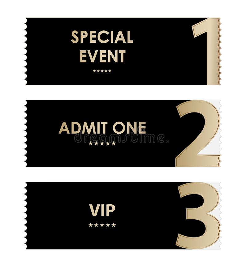 Special admit one ticket stock illustration