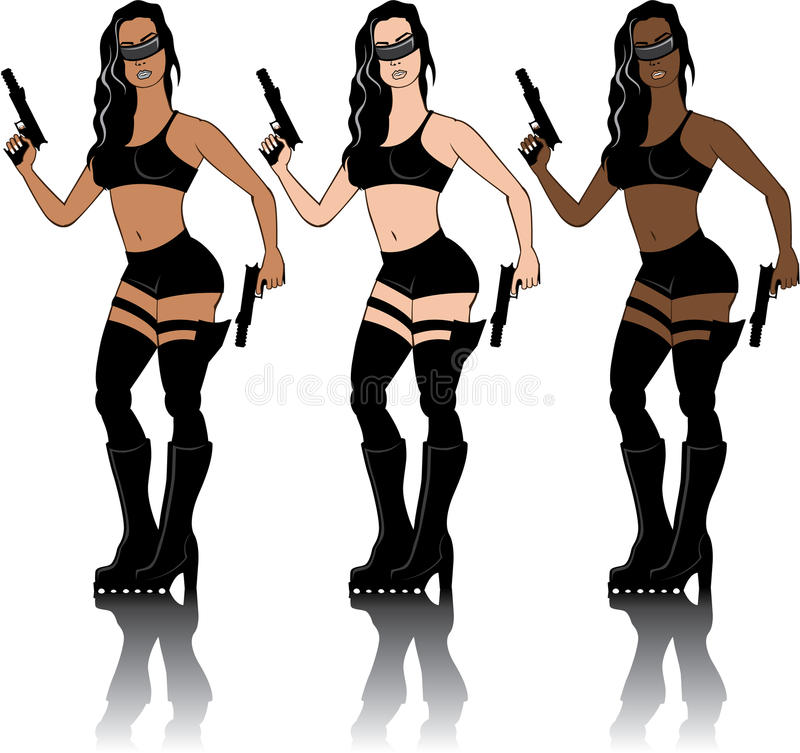 Special Agent Girl. Illustrations clip-art vector stock illustration