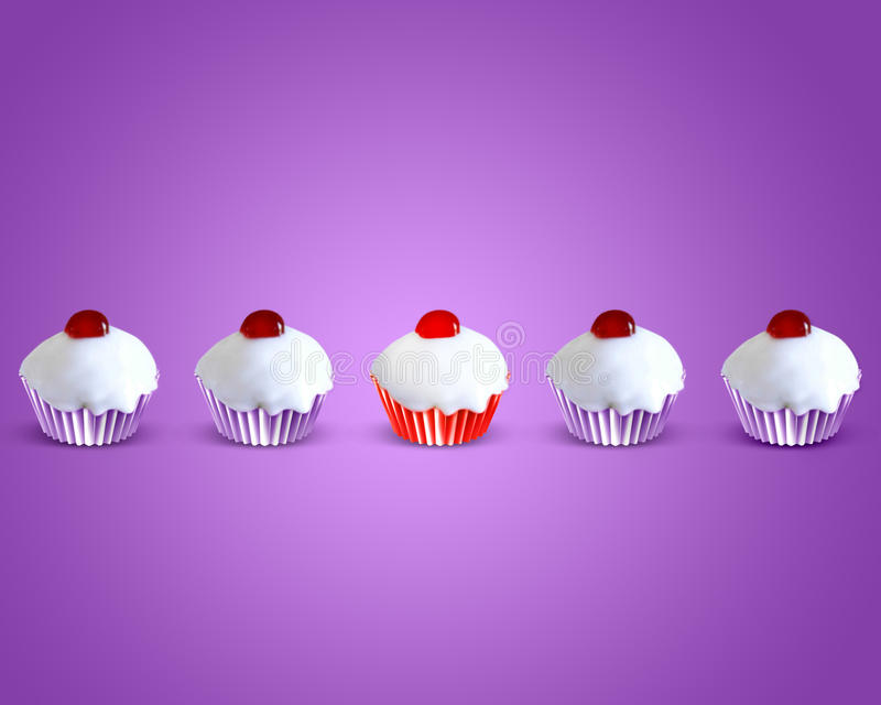 Download Special Attractive Red Muffin Cake Stock Illustration - Image: 22363470