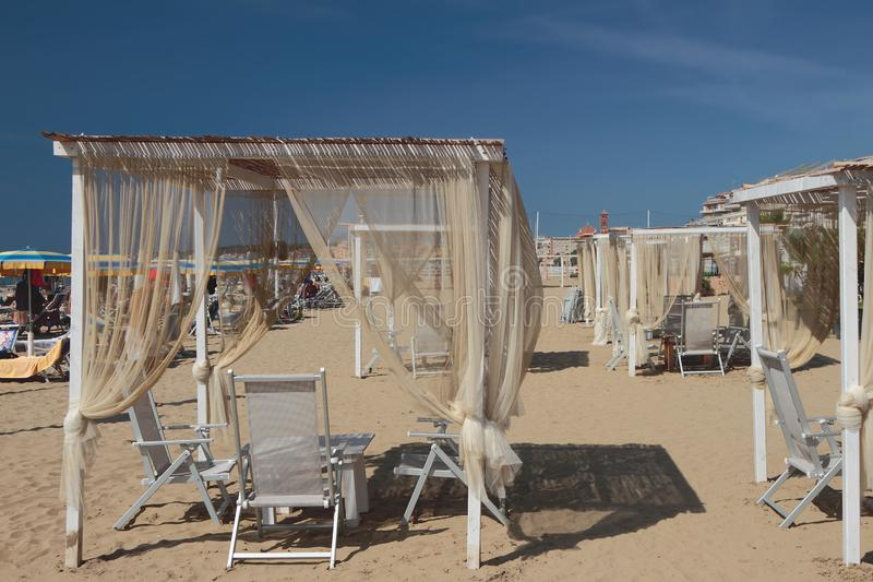 Special belvedere for beach holidays. Nettuno, Italy. 2019-09-15 stock image