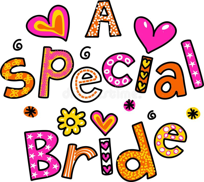 A Special Bride royalty free illustration