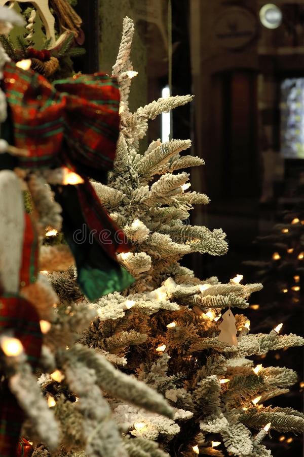 Innovative decorations for Christmas stock images
