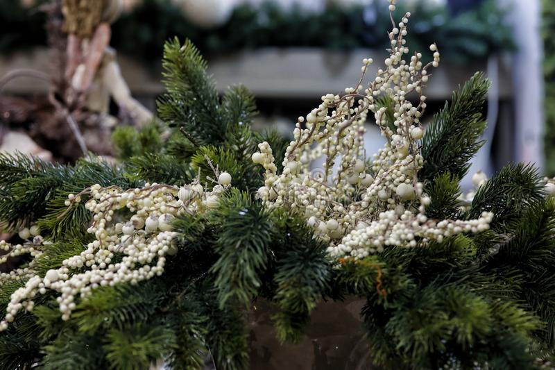 Innovative decorations for Christmas stock photos
