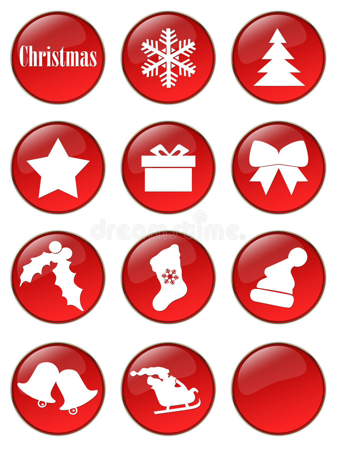 Special Christmas holiday buttons