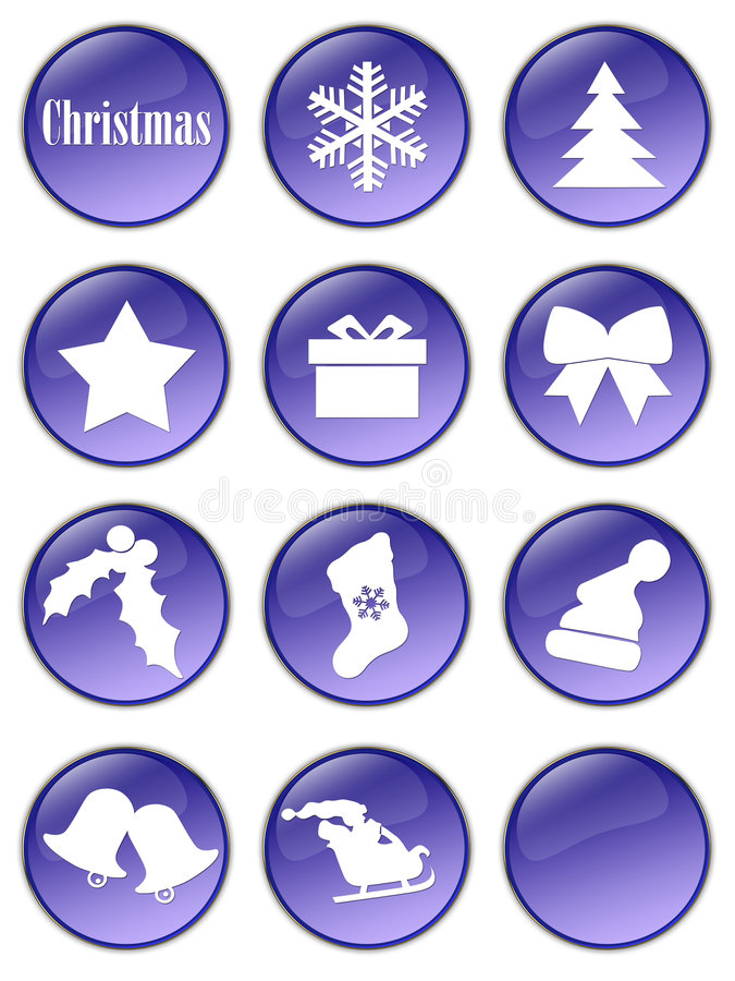 Special Christmas Holiday Buttons Royalty Free Stock Photography