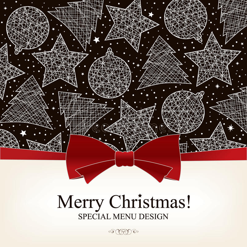Special Christmas menu design vector illustration