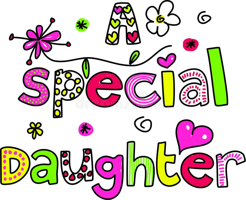 Download A special daughter stock illustration. Image of graphic - 8519203