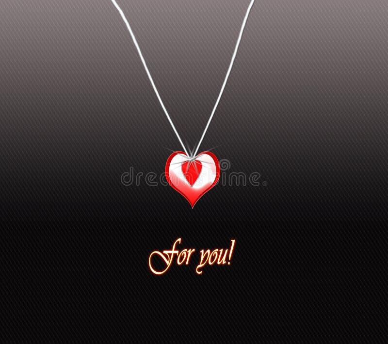 special de coeur de médaillon pour vous images stock