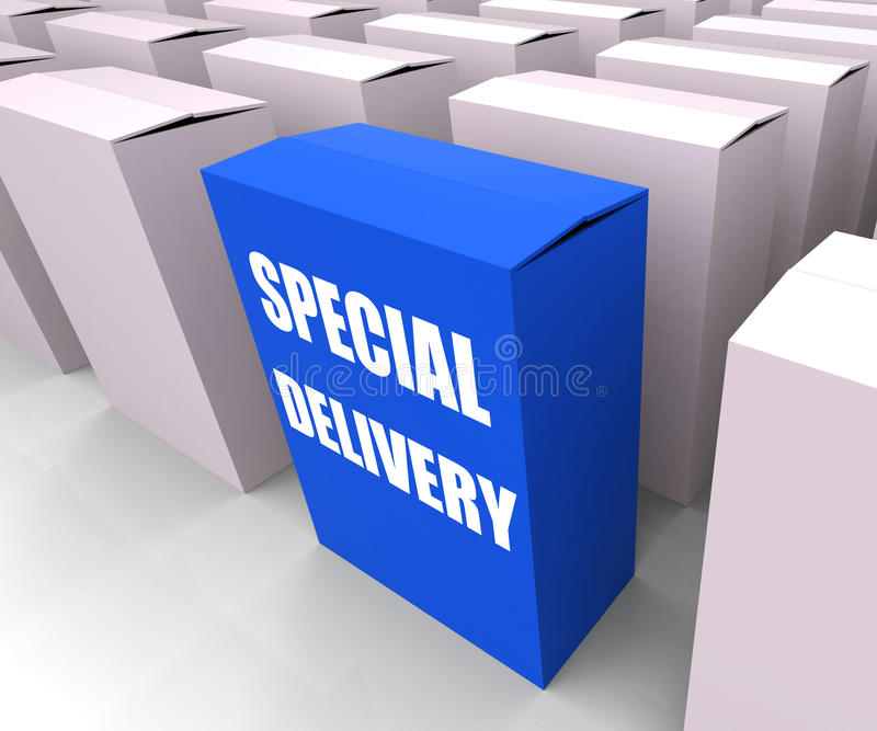 Special Delivery Box Shows Secure and Important vector illustration