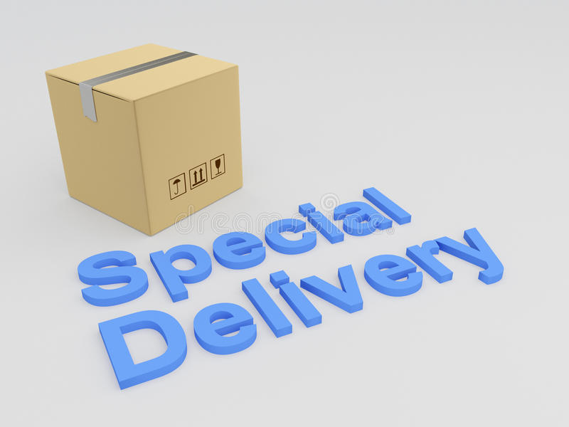 Special Delivery concept royalty free illustration