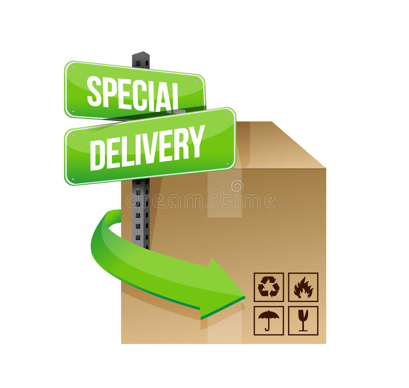 Special delivery concept sign stock illustration