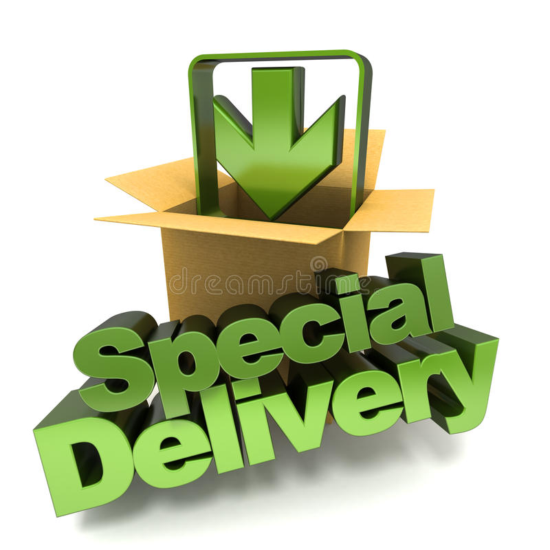 Special delivery stock illustration