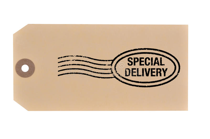 Download Special Delivery Tag. Stock Photo - Image: 23629870