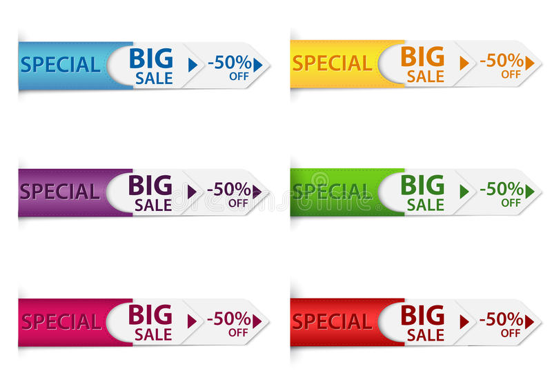 Special discount price tags stock illustration