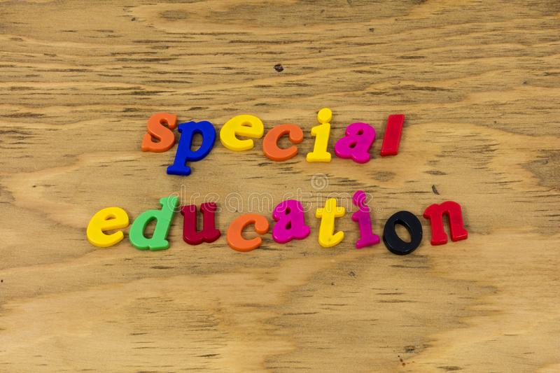 Special education class school educate plastic royalty free stock photo