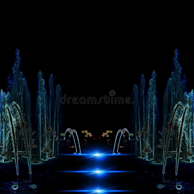Special Effects Water Fountain royalty free stock photography